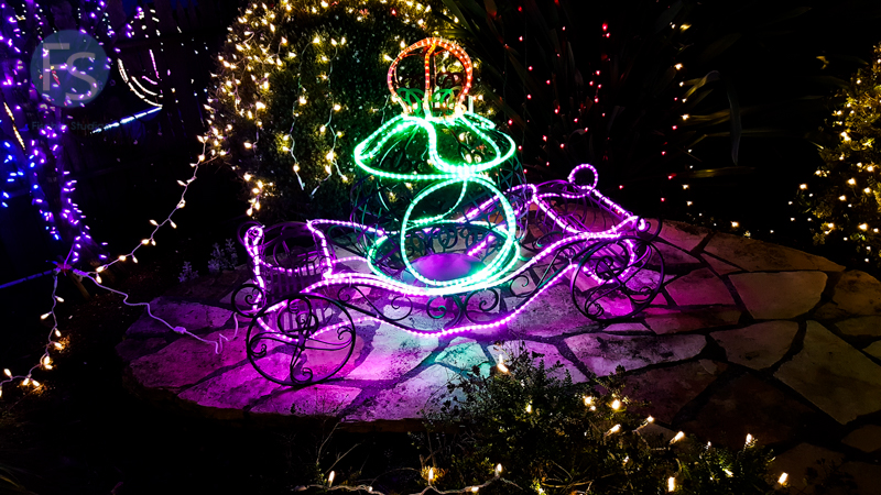 Christmas Lights - Cambria Pines Lodge Cinderella Carriage 2015